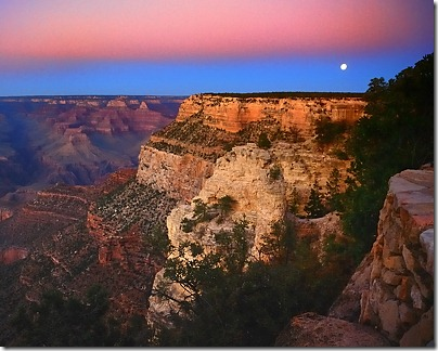 Grand Canyon Moonrise