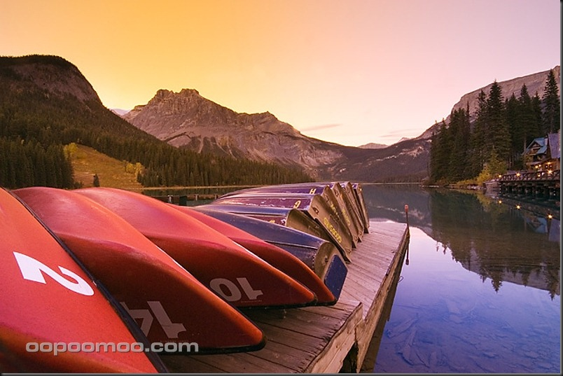Emerald Lake canoe dock